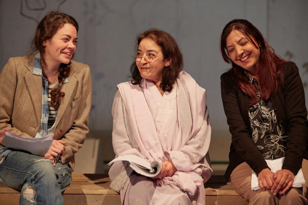 © Mark Douet, Haley McGee (Deborah), Mia Soteriou (Ila), Anjali Mya Chadha (Ayesha)