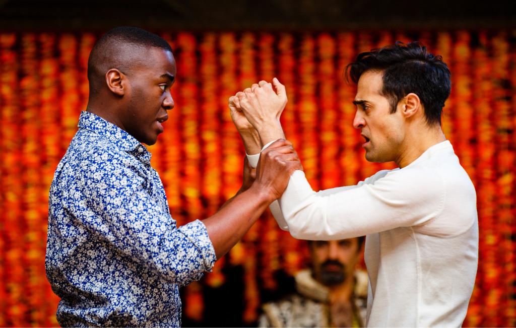 © Steve Tanner,  Ncuti Gatwa as Demetrius, Ankur Bahl as Helenus