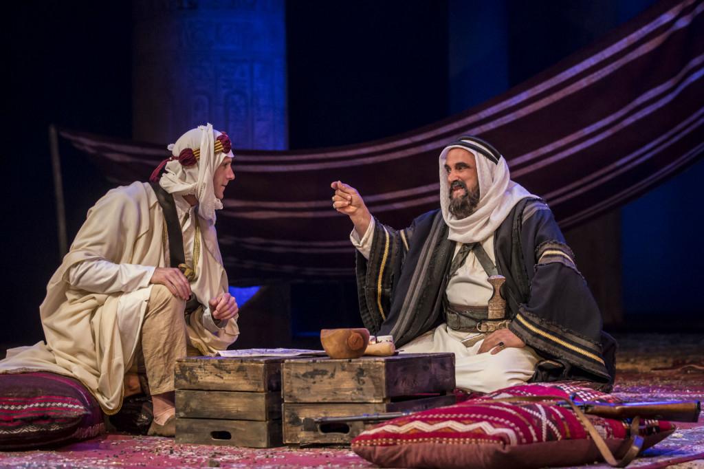 © Johan Persson, Joseph Fiennes and Peter Polycarpou as Sheik Auda Abu Tayi