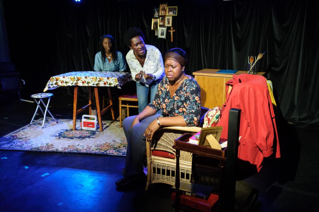 © Jane Hobson, Rebecca Omogbehin (Jemima), Shvorne Marks (Patricia), Michelle Greenidge (Mum).