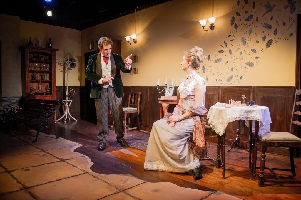 © Robert Workman, Paul Herzberg (The Gentleman) and Sara Griffiths as his estranged wife, Gerda in Storm