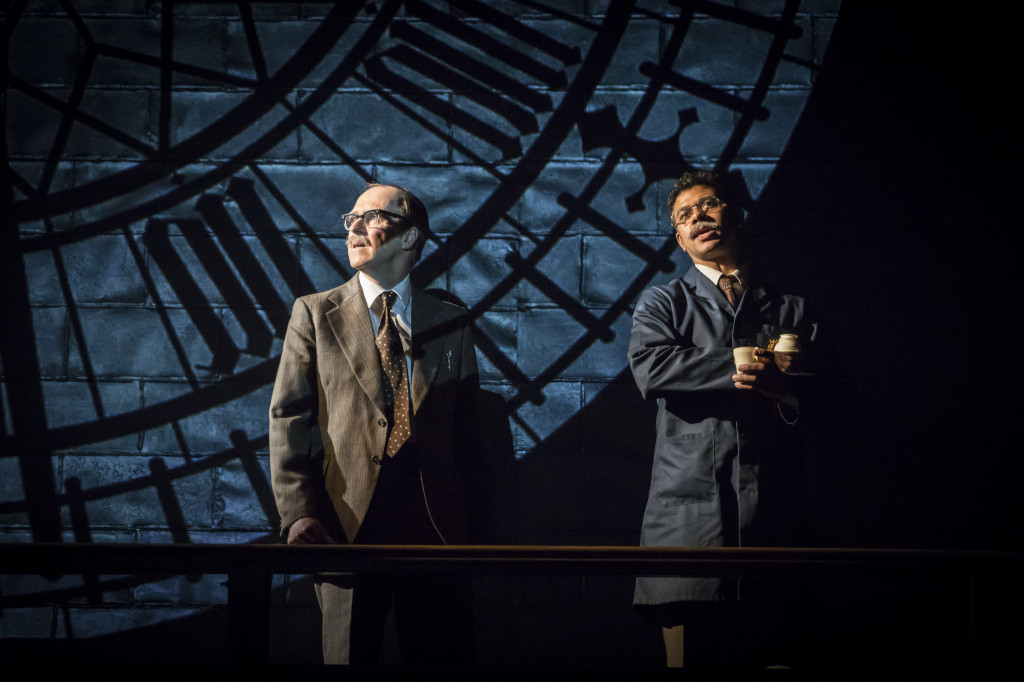 © Johan Persson, Kevin Doyle as Labour Whip, Michael Cocks and Robert Gilbert as Clockmaker repair to Big Ben