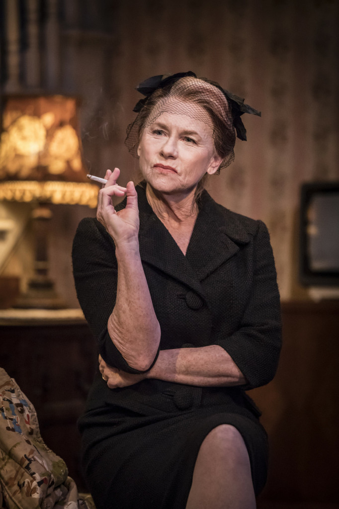 © Johan Persson, Amy Madigan as the haranguing wife, Halie...
