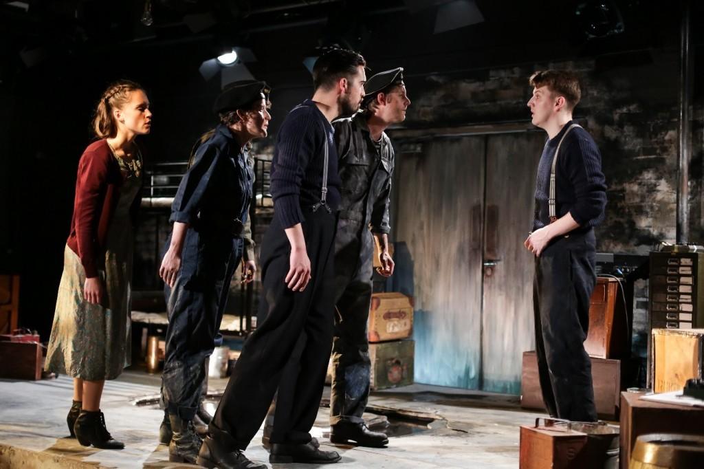 Cast of Narvik with Joe Shipman as Jim