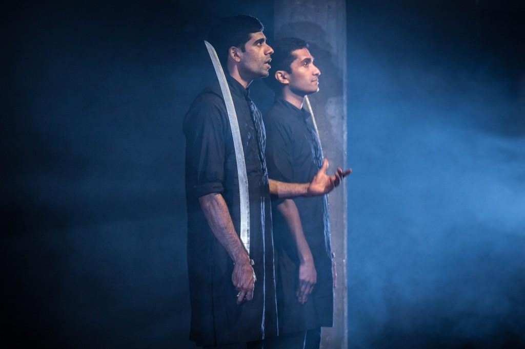 © Marc Brenner, Darren Kuppan (Babur) and Danny Ashok (Humayun) - the two guards, on guard...
