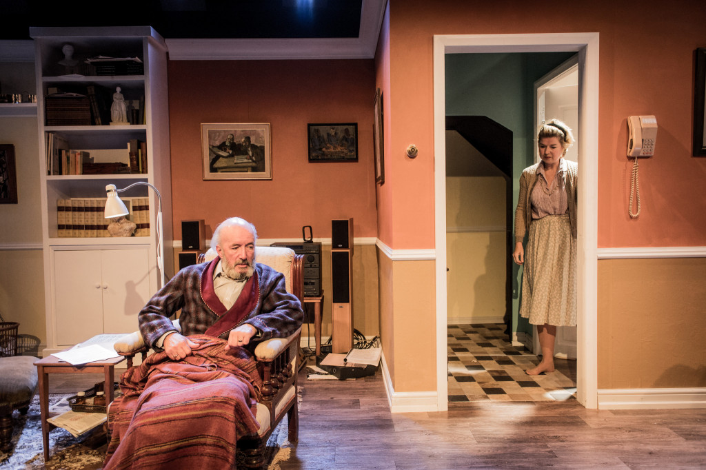 © Robert Workman, Clive Merrison (Otto) and Issy van Randwyck (Lottie), serving his every need with quiet patience...