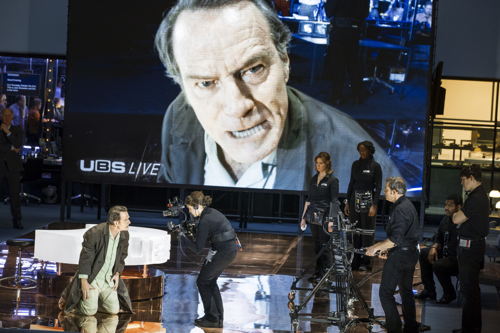 © Jan Versweyveld, Bryan Cranston as Howard Beale, telling 60 million viewers to get `angry as hell and not take any more of it'...