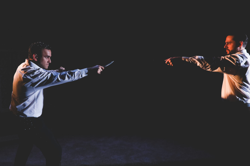 © Andreas Grieger, Anthony Flaum as Lensky, Felix Kemp as Onegin. The duel scene