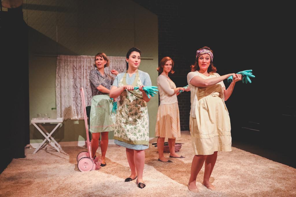 © Andreas Grieger, Flora McIntosh as Filipyevna, Alexandra Stenson (Joyce), Caroline Daggett (Carol), Kathryn Hannah (Larina) - friends of Larina's sing of their household chores..