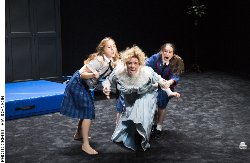 © Pia Johnson, Harriet Gordon-Anderson, Nikki Shiels and Elizabeth Nabben...the returned schoolgirls trying to find out what has happened and setting upon one of their teachers...