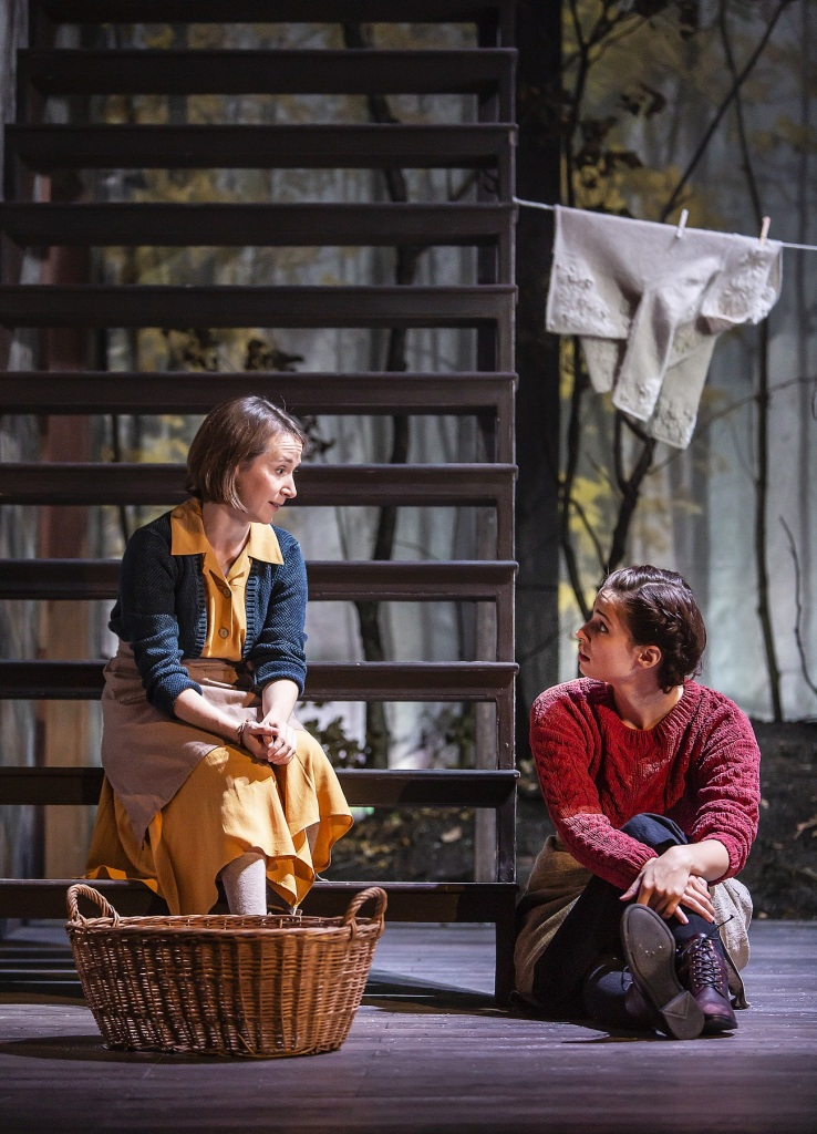 © Helen Raith, Bryony Hannah as Sarah Box, and Heida Reed as Judith Covey, friendship stretched under pressure...