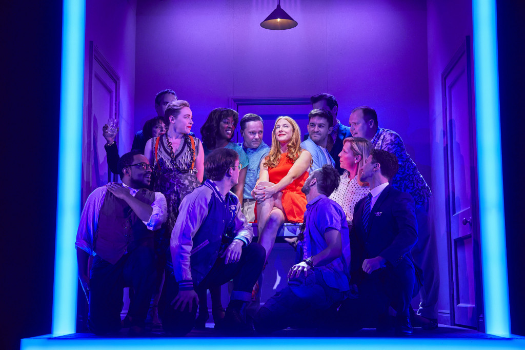 © Brinkhoff-Mogenburg, Rosalie Craig as Bobbie and `friends', so well meaning, gathering for her 35th birthday...