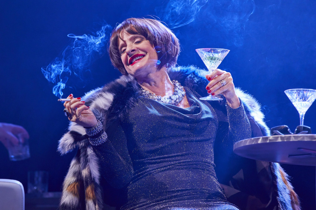 © Brinkhoff-Mogenburg, the one and only Patti Lupone as the hard-drinking, acerbic Joanne, and `Ladies that lunch.'