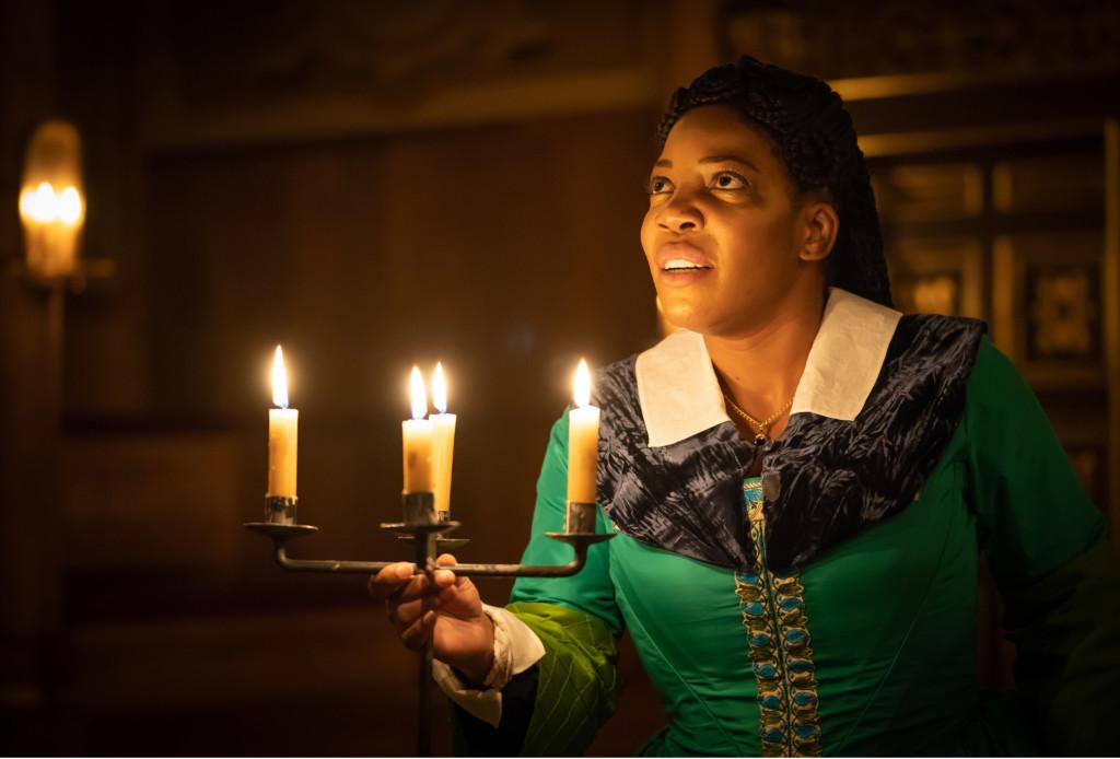 © Marc Brenner, Jocelyn Jee Esien as Doctor Faustus in Paulette Randall's gender switched production...