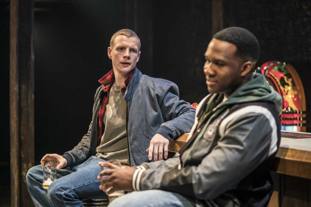 © Johan Persson, with Patrick Gibson (Jason) and Osy Ikhile (Chris)