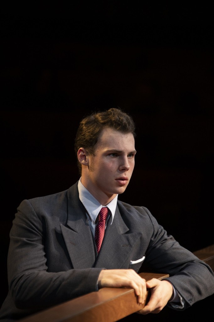 © Ellie Kurtz, Daniel Solbe, as the fresh faced defendant. New boy on the block and very good he is, too...