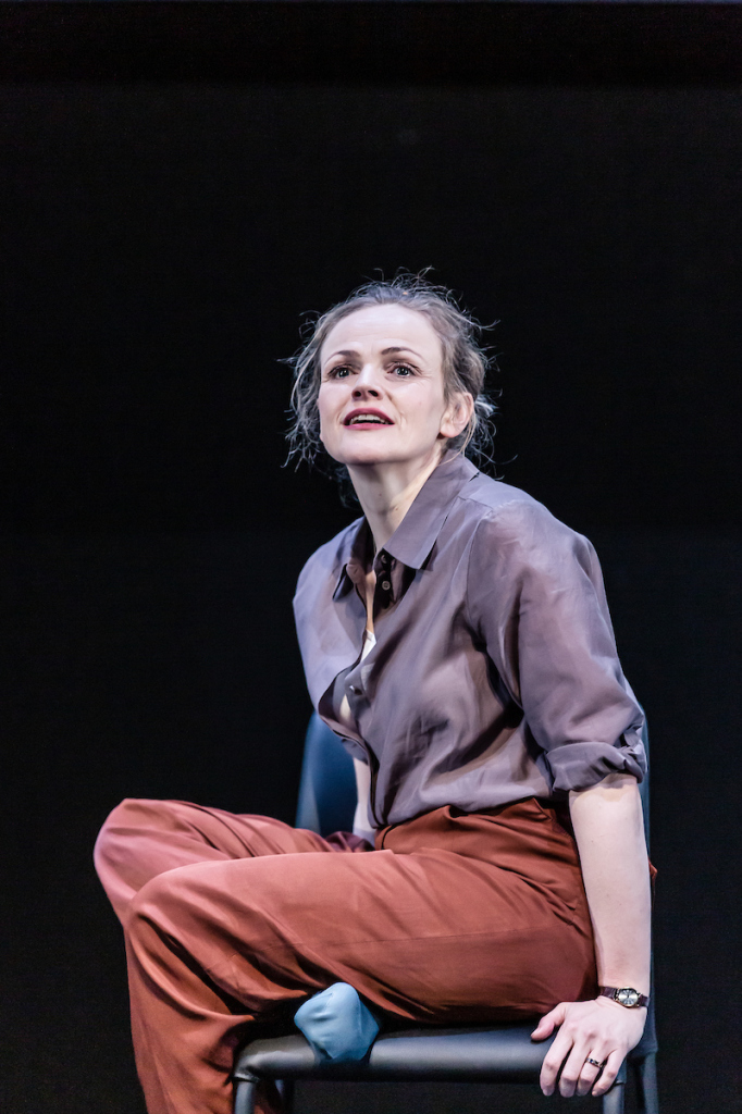 © The Other Richard. Maxine Peake as the Woman. Engaging and constantly optimistic - a `Polyanna juggernaut' as her sometime husband calls her...