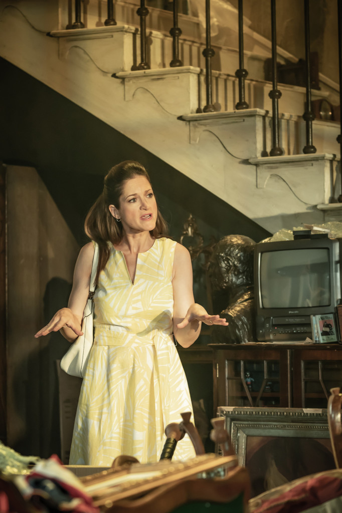 © Marc Brenner, Jaimi Barbakoff as Rachael, Bo's wife, Jewish and discovering family bigotry spiralling to the surface...