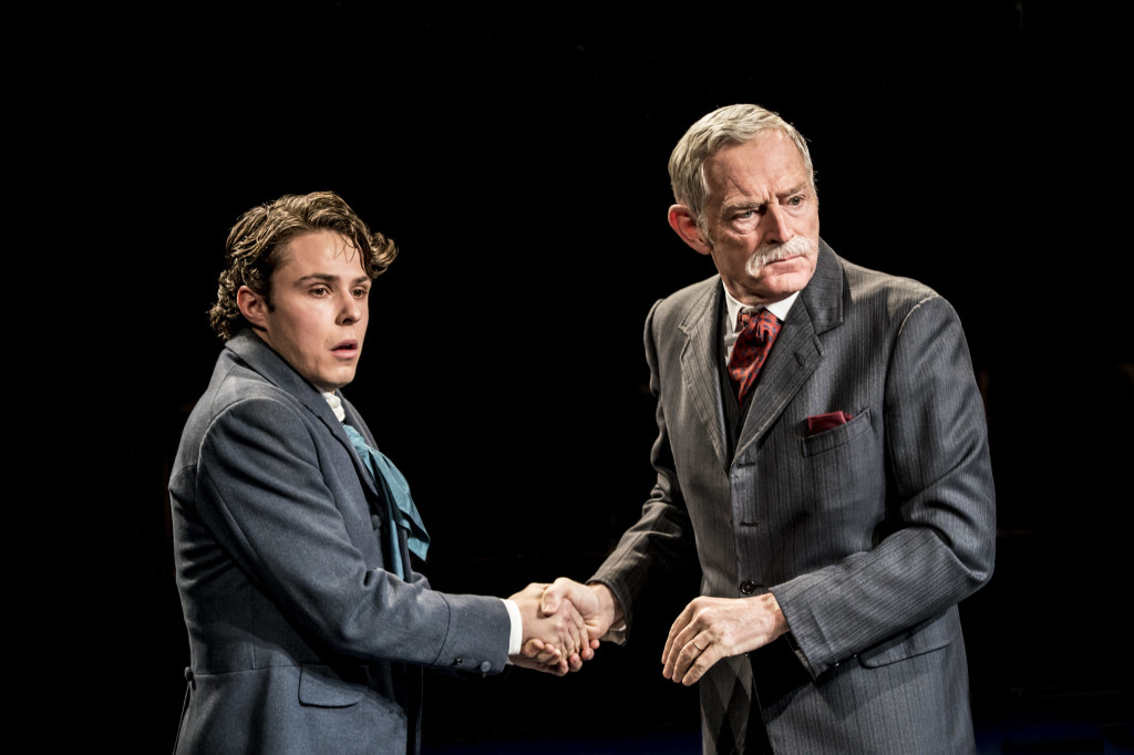 © Johan Persson, Joseph Potter as Eugene Marchbanks, Michael Simkins as Mr Burgess, archetypal Shavian capitalist, forever on the make...