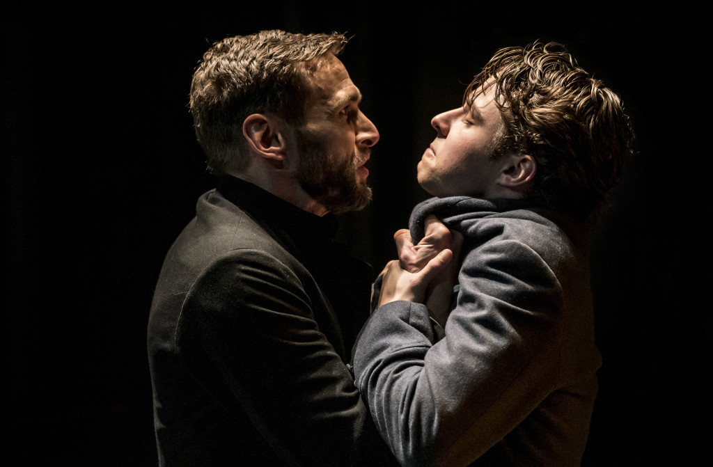 © Johan Persson, Martin Hutson as the Reverend Morell and Joseph Potter as young Eugene Marchbanks. Morell getting to grips with male competition, jealousy, trust and the true meaning of happiness...who is the weaker vessel? Morell or Marchbanks, the play asks.